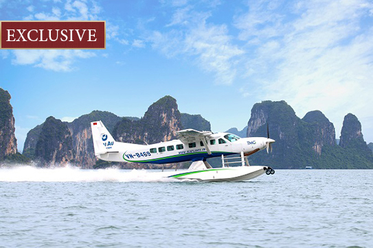 scheduled flight hanoi to halong bay seaplane